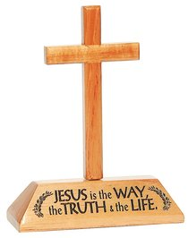 Cross on Stand: Jesus is the Way, the Truth, and the Life