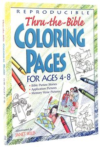 Thru-The-Bible Coloring Pages For Ages 4-8