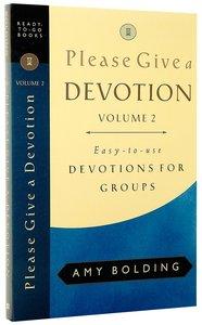 Please Give a Devotion (Vol 2)