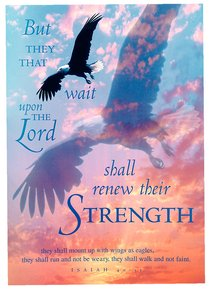 Poster Large: But They That Wait Upon the Lord Isaiah 40:31