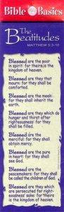 Bible Basics Bookmark: The Beatitudes (10 Pack)