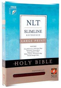 NLT Slimline Reference Large Print Burgundy (Red Letter Edition)