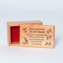 Wooden Box: Footprints in the Sand