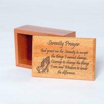 Wooden Box: Serenity Prayer