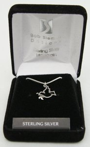 Pendant: Dove With Olive Branch (Solid Sterling Silver)
