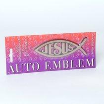 Auto Emblem Sticker: Gold Fish/Jesus Large