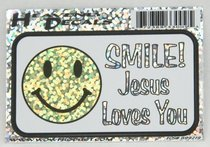 Heavenly Decal Mini Sticker: Smile! Jesus Loves You