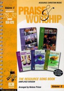 Rcm Volume E Music Book Praise and Worship (Supp 28-32)