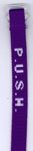 Wristband: Push Maroon