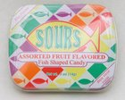 Scripture Fish Mints Pocket Tin: Sours Assorted Fruit Flavored