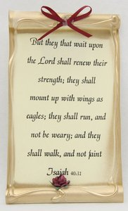 Magnet Scroll: Assorted Designs (Isaiah 9:6/isaiah 40:31)
