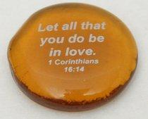 Glass Scripture Stones Assorted