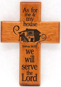 Small Wood Cross: As For Me and My House