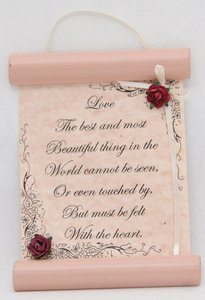 Small Hanging Scroll - Assorted Scripture and Inspirational