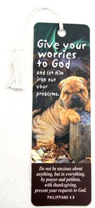 Tassel Bookmark: Give Your Worries to God