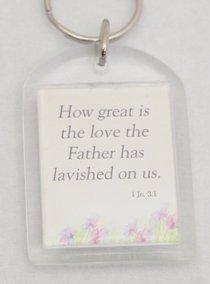 Plastic Keyring: Gods Love