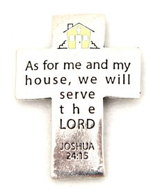 Magnet: As For Me and My House (Solid Pewter)