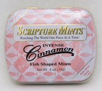 Scripture Fish Mints Pocket Tin: Intense Cinnamon Sugar Free