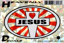 Heavenly Decal Mini Sticker: Jesus With Heart