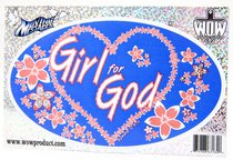 Oval Decals: Girl For God