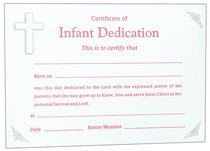 Infant Dedication Certificate - Girl