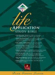 NLT Life Application Study Bible (Black Indexed)
