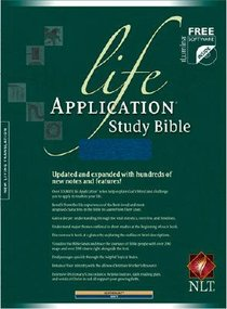 NLT Life Application Study Navy Indexed (Red Letter Edition)