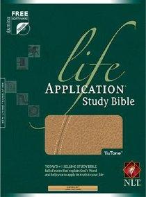NLT Life Application Study Bible Camel/Camel Tutone (Red Letter Edition)