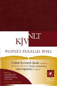 NLT KJV Peoples Parallel Burgundy Imitation (Black Letter Edition)