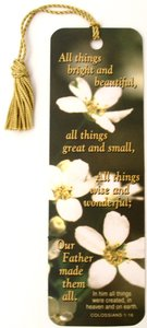 Tassel Bookmark: All Things Bright and Beautiful