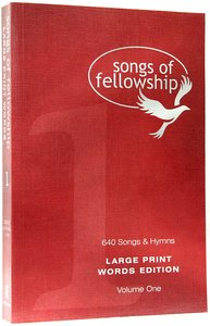 Songs of Fellowship #01 Words (Large Print)