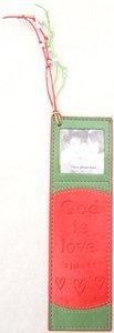 Soft Tone Bookmark With Photo Frame:1 John 4:8