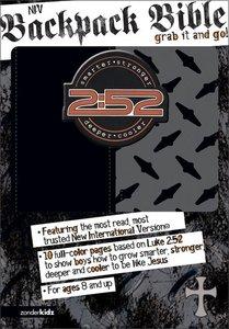 NIV 2:52 Backpack Bible Duo-Tone Black/Grey