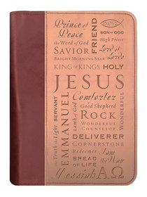 Bible Cover Duo-Tone Names of Jesus Extra Large