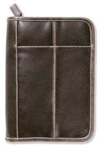 Bible Cover Distressed Leather-Look Brown Medium