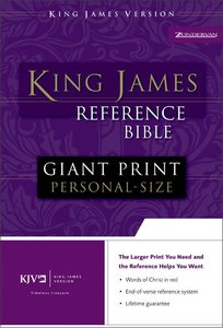 KJV Personal Giant Print Reference Bible Navy Indexed