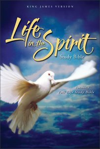 KJV Life in the Spirit Study Bible Black Top Grain