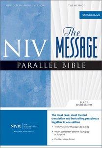 Niv/The Message Parallel Bible Black