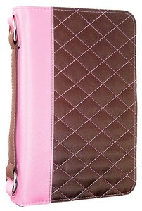Bible Cover Aspen Micro Brown/Pink Large