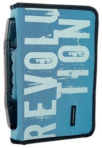 Bible Cover Revolution Nylon Stone/Blue Medium