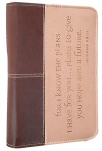 Bible Cover Jeremiah 29:11 Chocolate/Sand Large