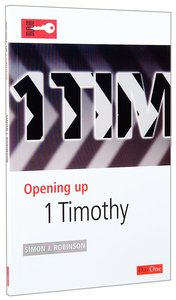 1 Timothy (Opening Up Series)