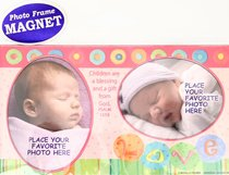 Magnetic Photo Frame: Baby Girl