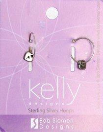 Earrings Kelly Design: Hoop Heart With Cross (Lead-free Pewter)