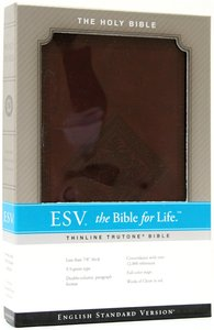 ESV Thinline Bible Chestnut Diamond