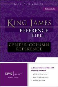 KJV Reference Bible Black Indexed