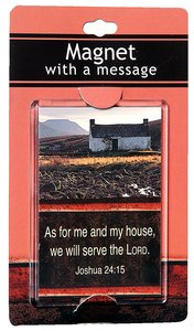 Large Acrylic Magnet: As For Me and My House