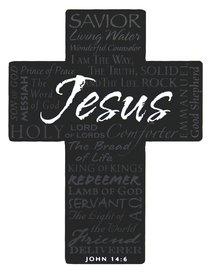 Mini Metal Cross Magnet: Jesus