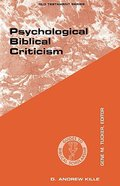 Psychological Biblical Criticism (Guides To Biblical Scholarship Series)