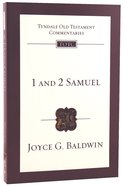 1&2 Samuel (Re-Formatted) (Tyndale Old Testament Commentary Re-issued/revised Series)